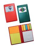 Custom Leatherette Notebook w/Sticky Notes & Flags - Full Color