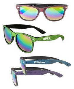 Wood Grain Malibu Sunglasses