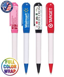 Closeout Promotional Colored Lustrous Pen -- No Minumum