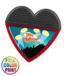 Custom Heart Shaped Magnetic Memo Clip - Full Color