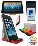 Custom Mobile/Tablet Stand w/Screen Cleaner - Full Color