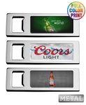 Custom Metal Sleek Beer Bottle Opener - Full Color