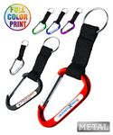 Custom Carabiner Keychain w/Strap - Full Color