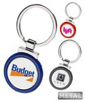 Custom Metal Color Keychain-Full Color Dome