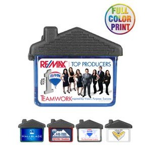House Shaped Magnetic Memo Clip - Full Color