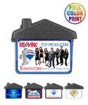 Custom House Shaped Magnetic Memo Clip - Full Color