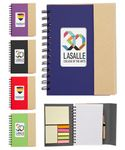 Custom Eco Magnetic Notebook w/Sticky Notes and Flags & Pen -Full Color