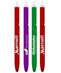 Custom Colored Barrels Clicker Stick Promotional Pen