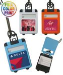Custom Full Color Suitcase Shaped Luggage Tag with Pop Up Cover