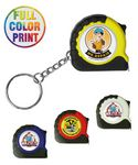 Custom Tape Measure keychain-Full Color Print