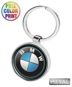 Round Shaped Metal Keychain-Full Color Dome