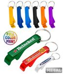 Custom Aluminum Beer Bottle Opener Full Color Keychain