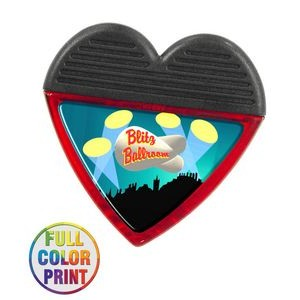Heart Shaped Magnetic Memo Clip - Full Color