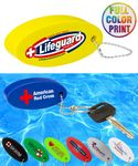 Custom Floating Stress Reliever Keychain Ball - Full Color