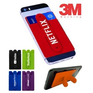 Silicone Wallet Phone Stand w/3M Backing
