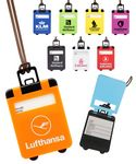 Custom Suitcase Shaped Luggage Tag with Pop Up Cover