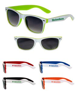 Two Color White Malibu Sunglasses