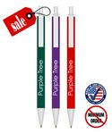 Custom Certified - Matching Colored Plastic Click-Stick Ballpoint Pen