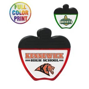 Apple Shaped Magnetic Memo Clip - Full Color