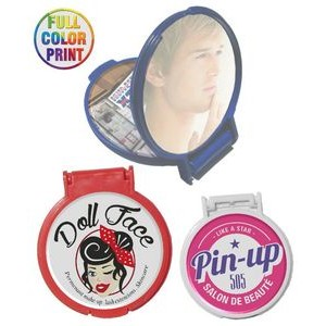 Pocket Size Round Mirror - Full Color Print