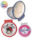 Custom Pocket Size Round Mirror - Full Color Print