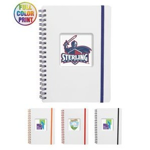Frosted Eco Spiral Notebook Jotter, Full Color