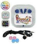 Custom Earphones w/Case-Full Color w/Interchangeable Earbuds
