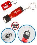 Custom Closeout Flashlight screwdriver Keychain
