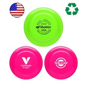 "USA Made, Neon Colored ""Frisbee"" 9"" Flying Disc"