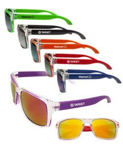 Two-Tone Mirrored Sunglasses