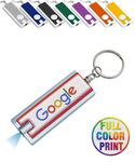 Custom Rectangle LED Light w/ Key Ring - Full Color Print