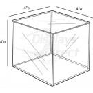 Custom Acrylic Cube, 4''w x 4''d x 4''h