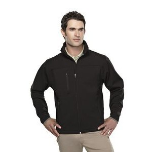 Men's Tri-Mountain Performance® Flight Soft Shell Polyester Blend Jacket