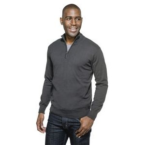 Quentin Blended Fine Gauge Quarter Zip Sweater