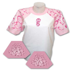 Custom Everyday Life White Adult Pink Ribbon Theme Sleeved Jersey T-Shirt