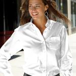 Custom Van Heusen Ladies' Long Sleeve Oxford Button-Down Dress Shirt