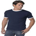 Custom American Apparel Adult Fine Jersey Short Sleeve Ringer Tee Shirt