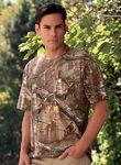 Custom Code V Adult RealTree 5.5 Ounce Camo Short Sleeve Pocketed T-Shirt