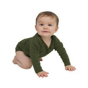 American Apparel Infant Baby Rib Long Sleeve One-Piece
