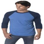 Custom American Apparel Poly-Cotton 3/4 Sleeve Raglan Shirt