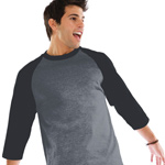Custom Anvil Heavyweight Baseball 3/4 Sleeve Tee Shirt