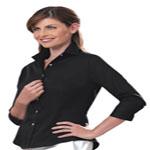 Custom Van Heusen Women's 3/4 Sleeve Twill Dress Shirt