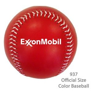 Official Size Baseball In Fashionable Colors - Red