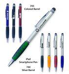 Custom Smart Phone Pen W/Stylus & Comfort Grip-Featured Green