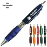 Custom Blue Fashion Ballpoint Pen w/Comfort Grip
