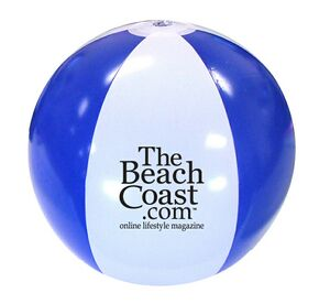 16 Official Size Inflatable Beach Ball - Blue/White