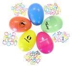 Custom Novelty Shapes Silly Bands In Egg Shaped Container Customized With Logo
