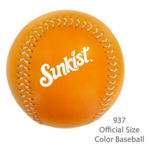 Official Size Baseball In Fashionable Colors - Orange