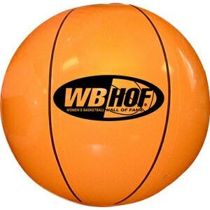 "Large 16"" Inflatable Sports Beach Ball (Basketball)"