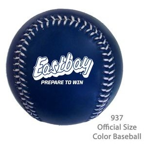Official Size Baseball In Fashionable Colors - Dark Blue